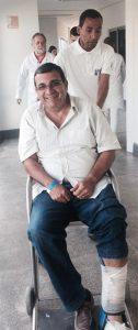 Mesmo com o pé quebrado, José Luiz Nanci seguiu a campanha.