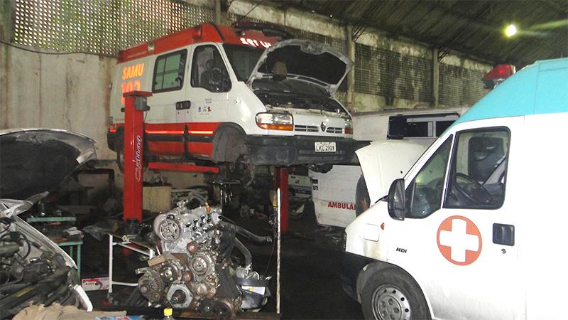 Garagem fará reparos  também nos fins de semana.